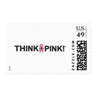 Think Pink Postage Stamp