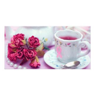 Think Pink Tea Photo Card Template