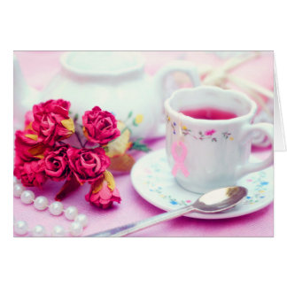 Think Pink Tea Stationery Note Card