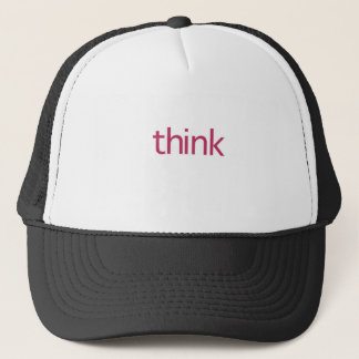 think (pink thought) trucker hat