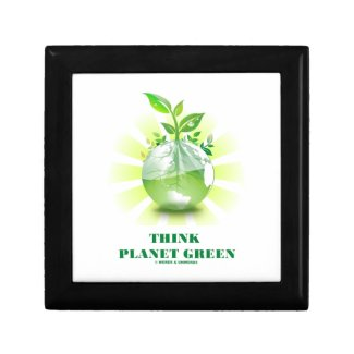 Think Planet Green (Green Leaves Planet Earth) Gift Boxes