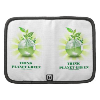 Think Planet Green (Green Leaves Planet Earth) Folio Planner