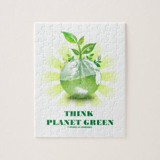Think Planet Green (Green Leaves Planet Earth) Puzzles