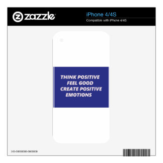tHINK POSITIVE 2.jpg iPhone 4S Decals