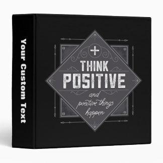 Think Positive 3 Ring Binder