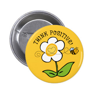 Think Positive Bee Button