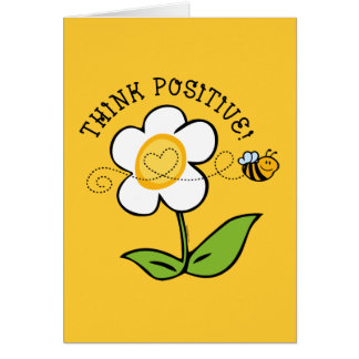 Think Positive Bee Card