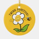 Think Positive Bee TTC Ornament