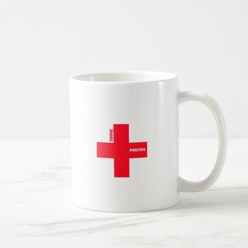 Think Positive (big red) Coffee Mug