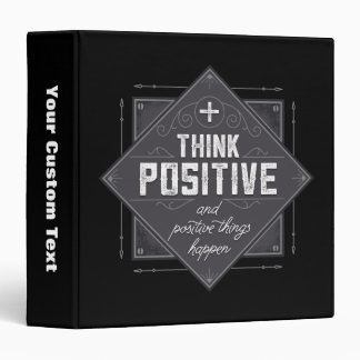 Think Positive 3 Ring Binders