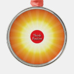 Think Positive Christmas Tree Ornaments
