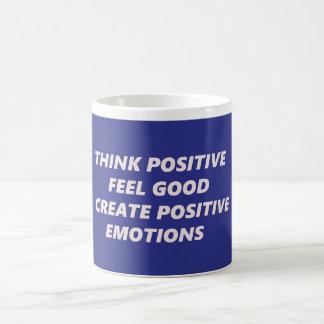 Think Positive Classic White Coffee Mug