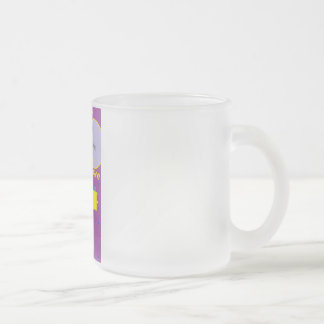 Think Positive Frosted Glass Coffee Mug
