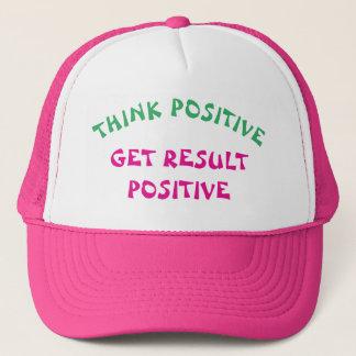 Think Positive Get Result Positive Trucker Hat