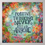 """Think Positive"" Inspirivity Poster"