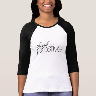 Think Positive Ladies 3/4 Sleeve Raglan (Fitted) Tee Shirt
