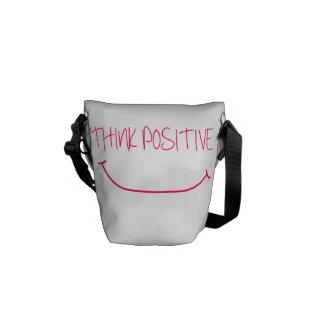 Think Positive Messenger Bags