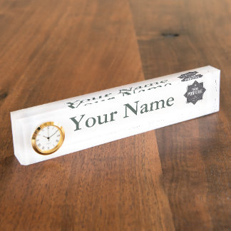 Think Positive Name Plate