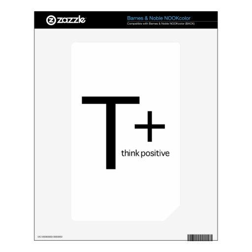 Think Positive NOOK Color Skin