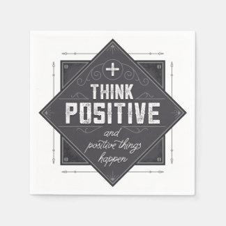 Think Positive Paper Napkin