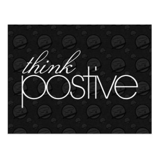 Think Positive Postcard