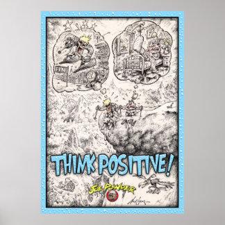 Think Positive ski Poster