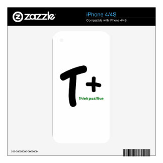Think Positive iPhone 4 Decal