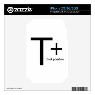 Think Positive Decals For The iPhone 3