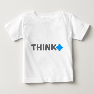 Think Positive Slogan Baby T-Shirt