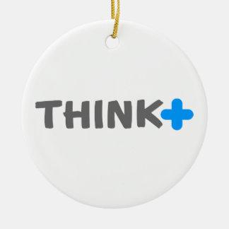 Think Positive Slogan Christmas Tree Ornament