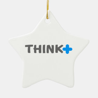 Think Positive Slogan Christmas Ornament