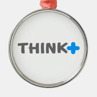 Think Positive Slogan Ornaments
