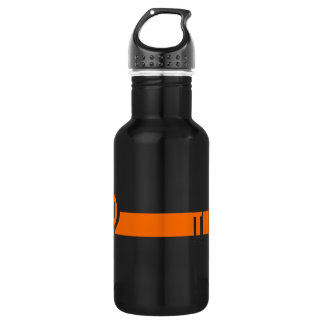 Think positive stainless steel water bottle