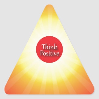 Think Positive Triangle Sticker