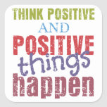 Think Positive Stickers