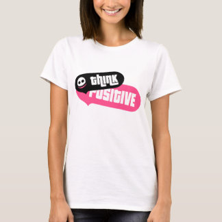 Think positive t-shirt with fancy speech bubbles