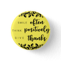 Think positively button