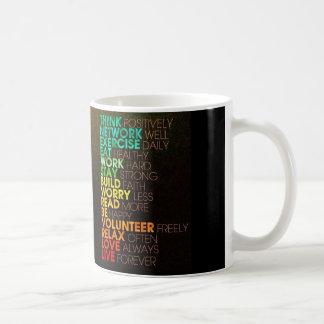 Think positively coffee mug