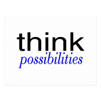 Think Possibilities Blue Postcard