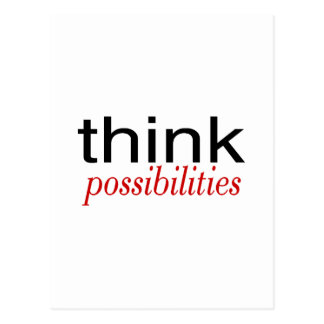 Think Possibilities Deep Red Postcard