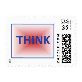 THINK postage stamp
