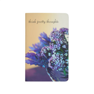Think Pretty notebook, lavender posey still life Journal