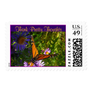 Think Pretty Thoughts postage stamp