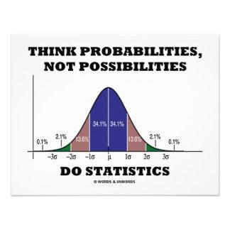 Think Probabilities, Not Possibilities Statistics Invitation
