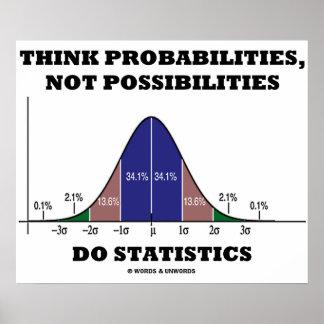 Think Probabilities, Not Possibilities Statistics Print