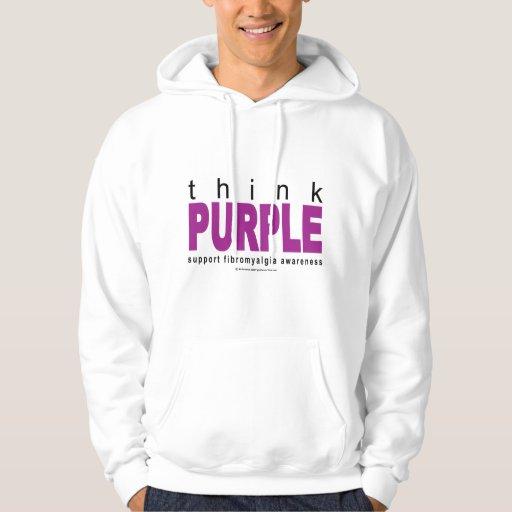 think PURPLE Fibromyalgia Hoodie