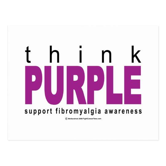 think PURPLE Fibromyalgia Postcard