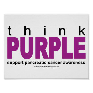 Think PURPLE Pancreatic Cancer Poster