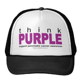 Think PURPLE Pancreatic Cancer Trucker Hat
