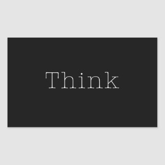 Think Quotes Inspirational Thought Quote Black Rectangular Sticker